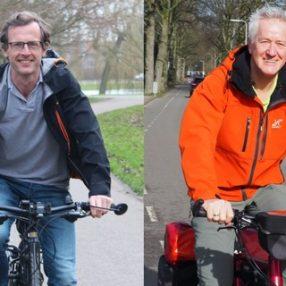 Wybren en Gerben op de fiets